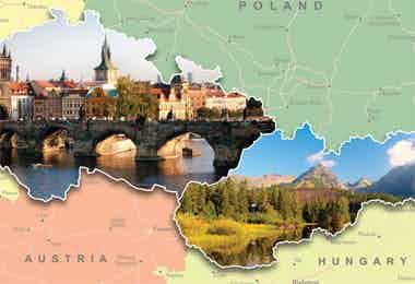 Czech/Slovakia map