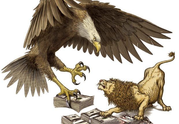 Eagle vs lion