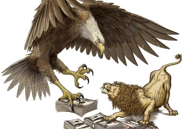 Eagle vs lion