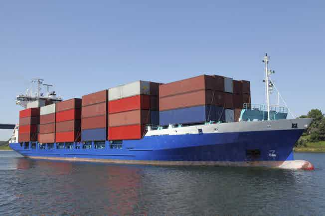 freight transport ship ocean