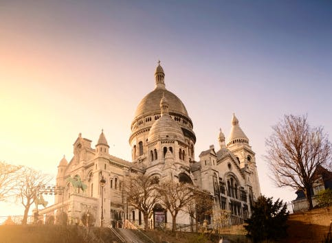paris sacre coeur montmartre france