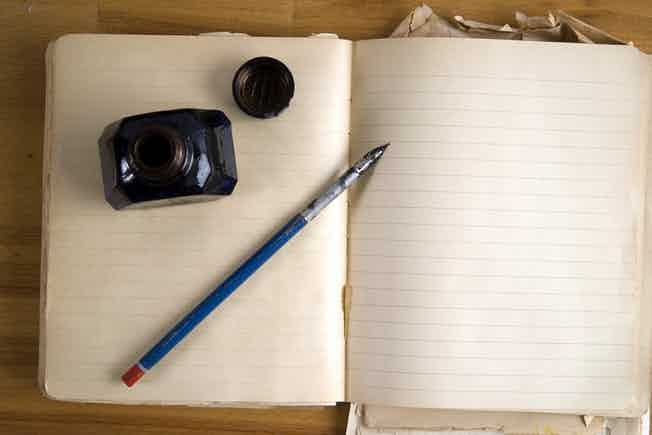 ink pen notebook write writing sketch