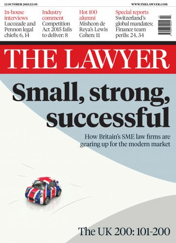 The Lawyer 12 October 2015 front cover