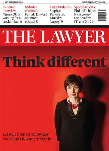 The Lawyer 19 October front cover