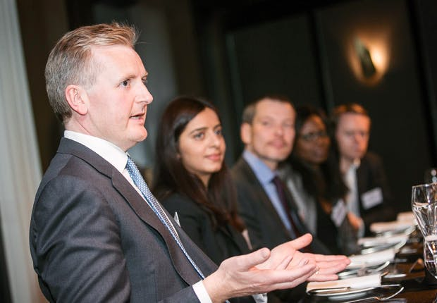 L-r: Richard Stewart, BMO Financial Group; Samina Salim, Legal Manager, Randstad UK Holding; Pavel Klimov, Unisys