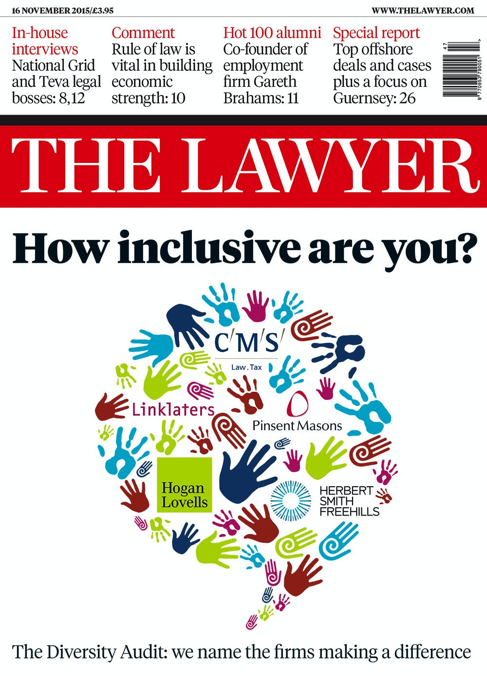The Lawyer 16 November 2015 front cover