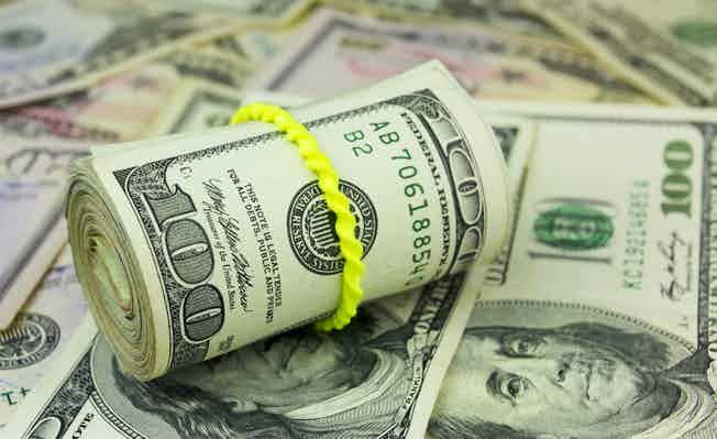 dollars money roll