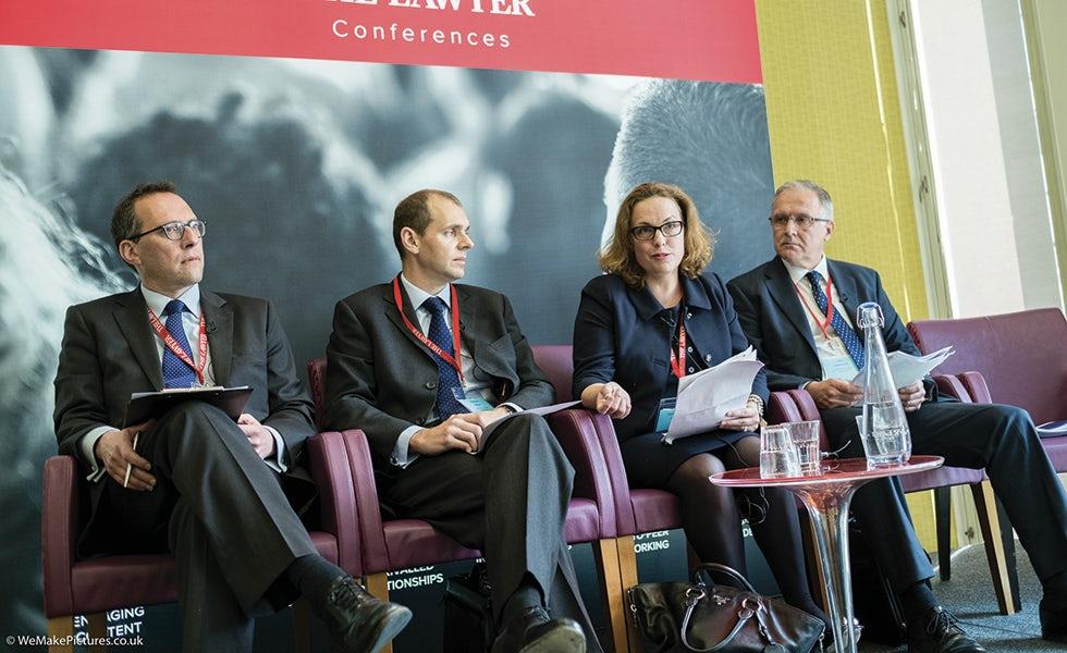 Adam Epstein, Mishcon de Reya; Matthew Dobson, Swiss Re Life Capital Management; Caroline Leckie, Deutsche Bank; Chris Lawrenson, Building Societies Association