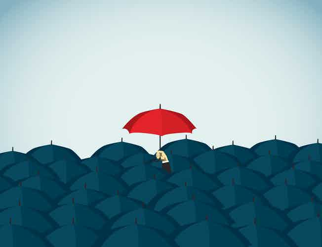 Red umbrella - Illustration and Painting