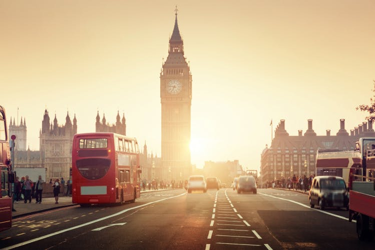 Big Ben, bus, parliament