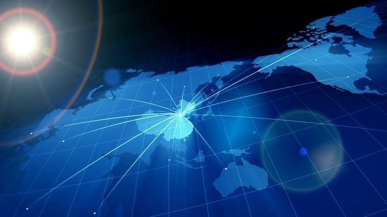 Asia-network-China- map