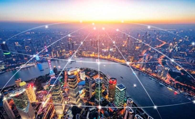 Shanghai urban network - Stock image China - East Asia, Shanghai