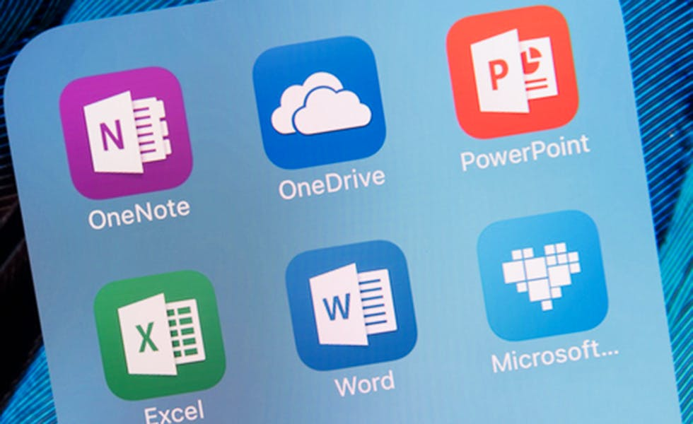 Microsoft apps including Word