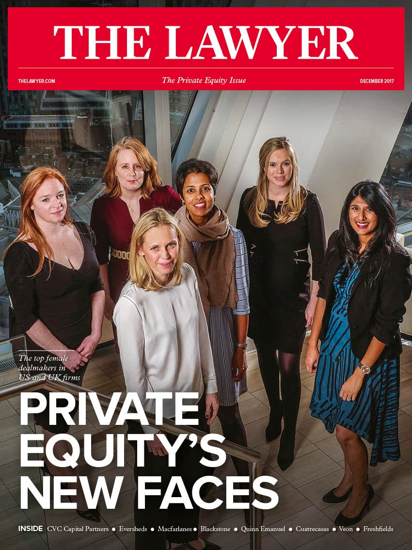 The Lawyer December magazine front cover Women in Private Equity