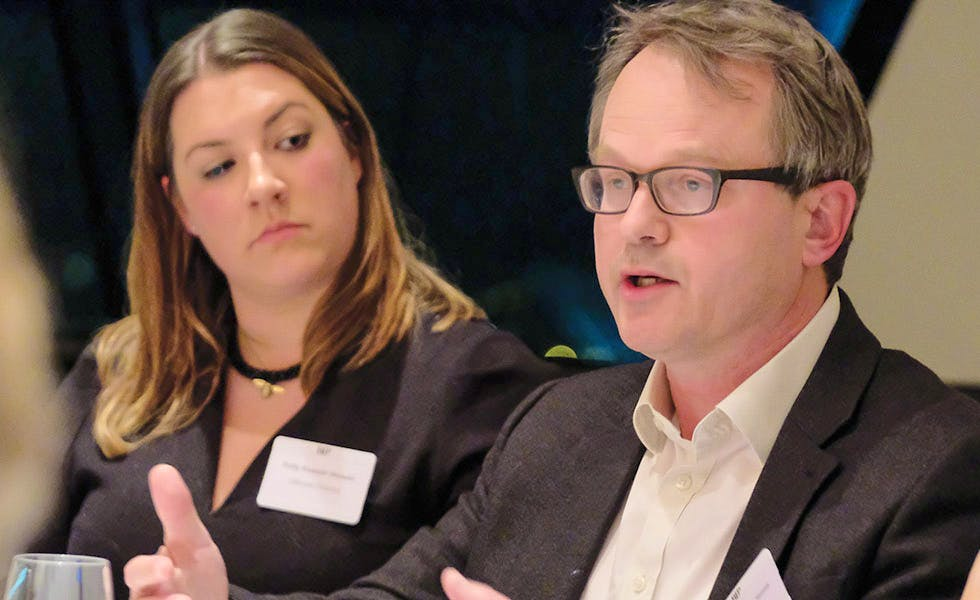 Polly Russell-Stower and Mark Maurice-Jones, lawyers and business ethics, GC2B roundtable