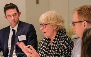 Andrew Howsen, Susan Crichton and Andrew Elliott, lawyers and business ethics, GC2B roundtable