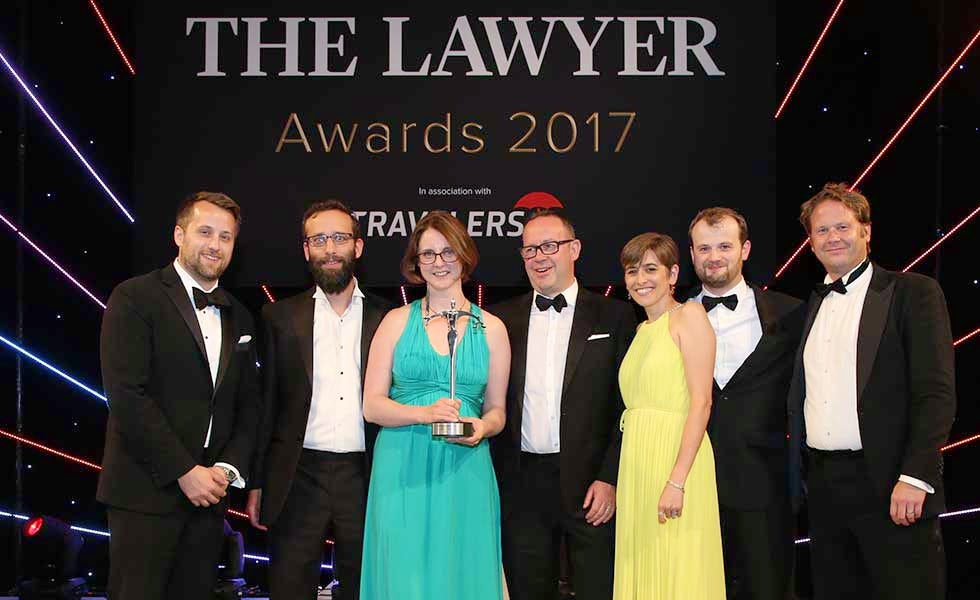 The Lawyer Awards Boutique Law Firm winner 2017, The Lawyer Awards 2017 Boutique Law Firm winner Kemp Little