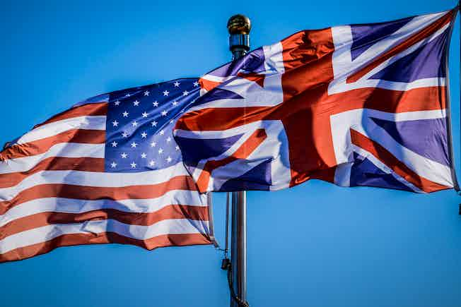 US and UK flags: Laterals help US firms in London grow