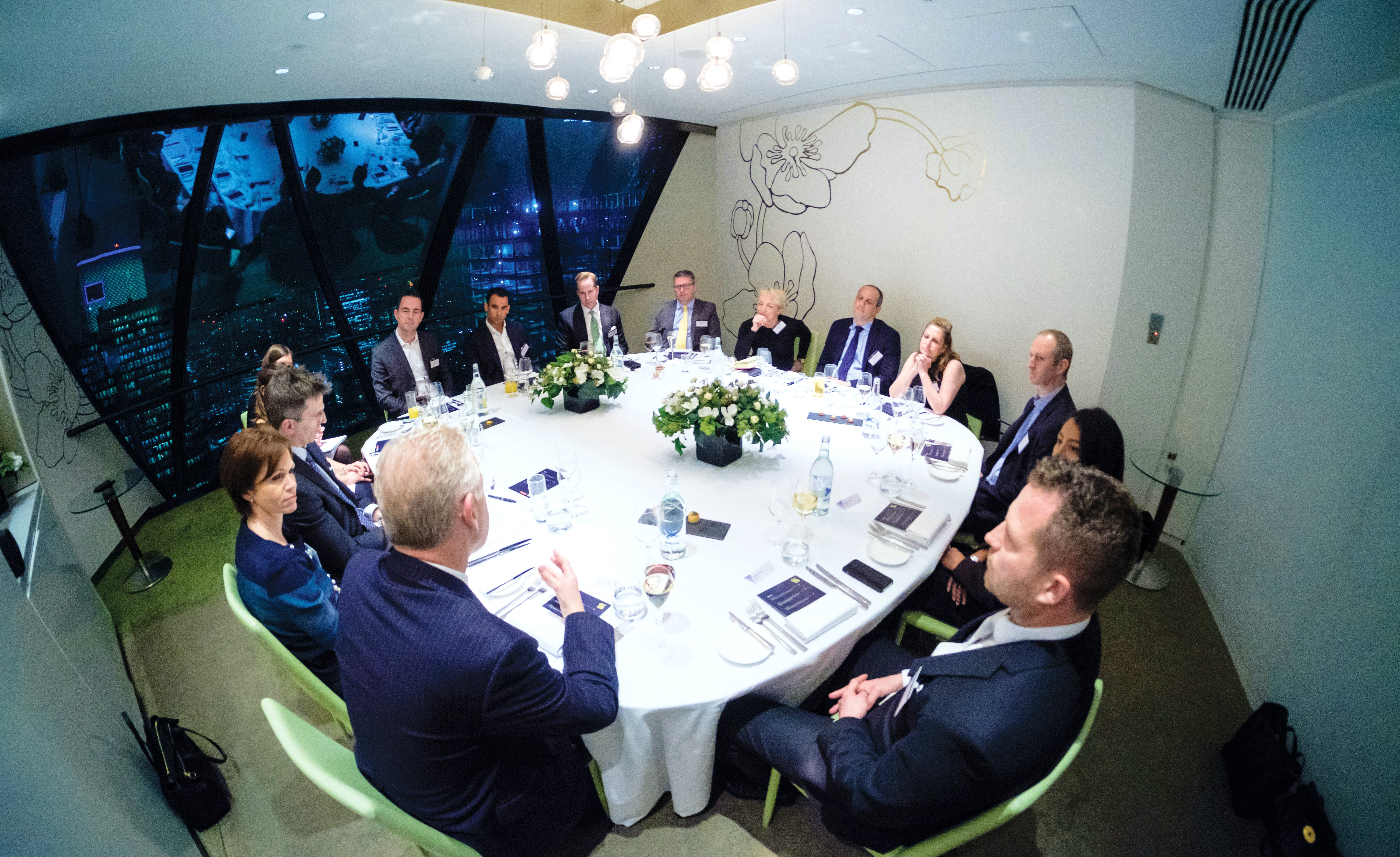 Picture of participants in a GC2B roundtable hosted by The Lawyer and Berwin Leighton Paisner that discussed how to attract the right in-house lawyers