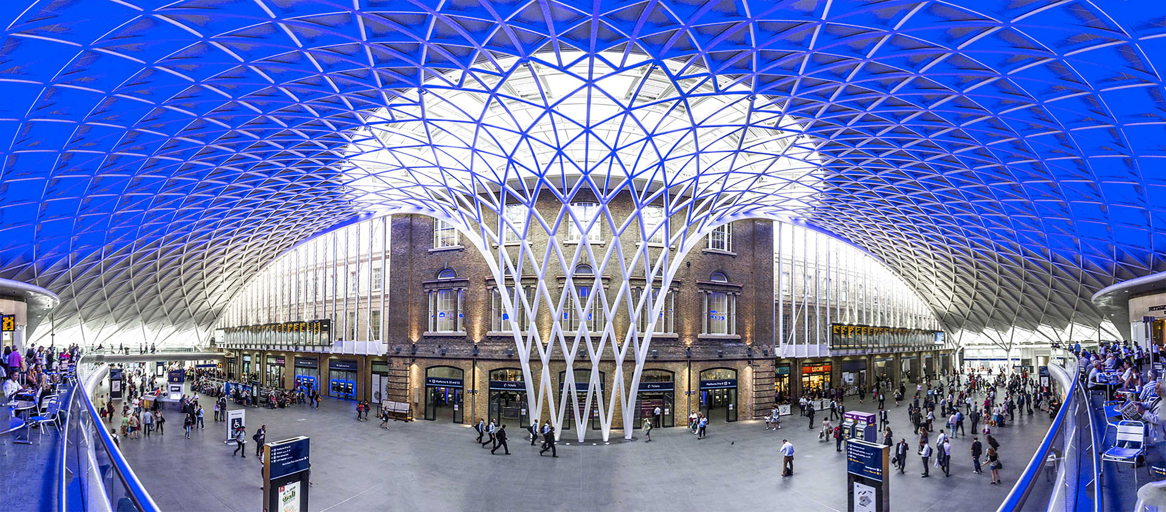 Kings Cross Station, London, trains, rail