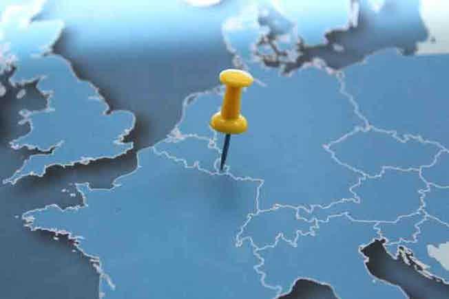 Map, Luxembourg Province - Belgium, Benelux, Europe, Former Yugoslavia
