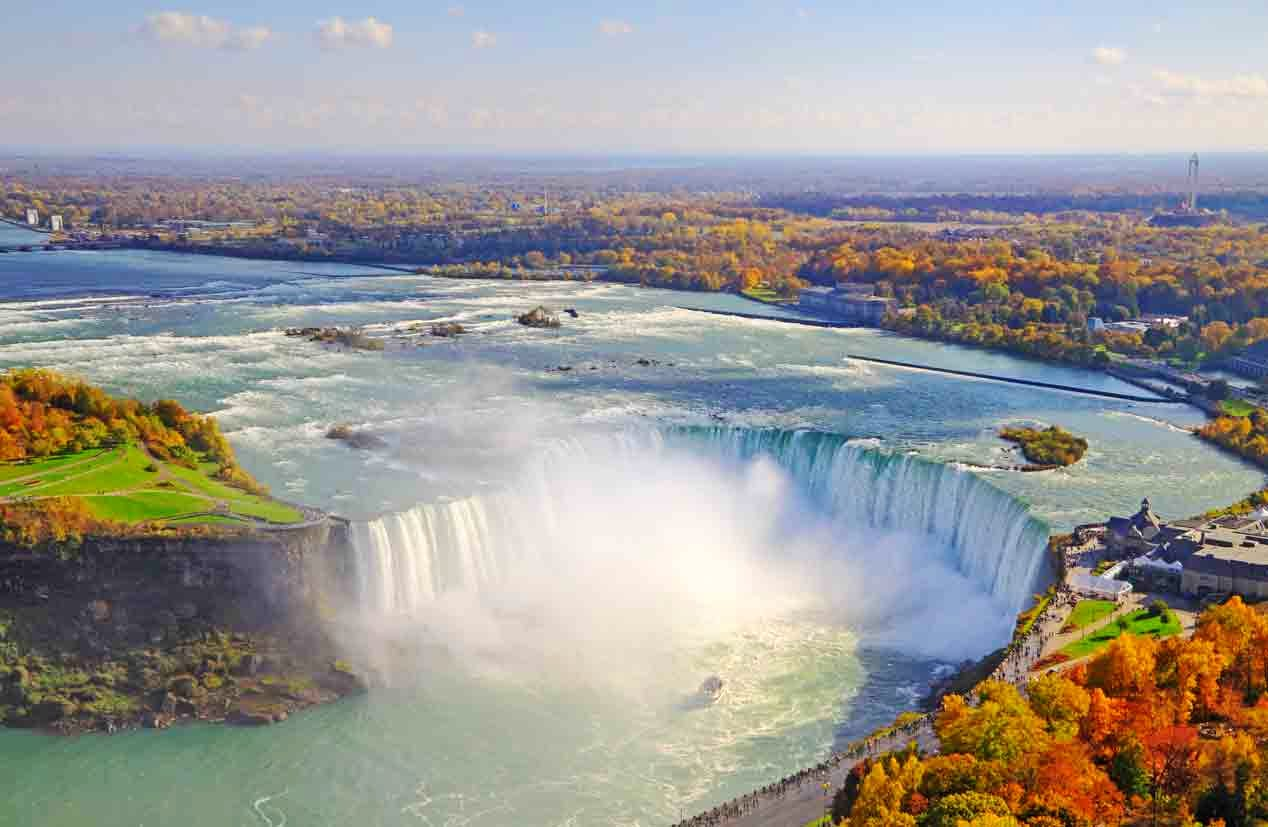 Niagara Falls, Canada – Aerial View for feature on Canada M&A, marijuana, recreational drugs