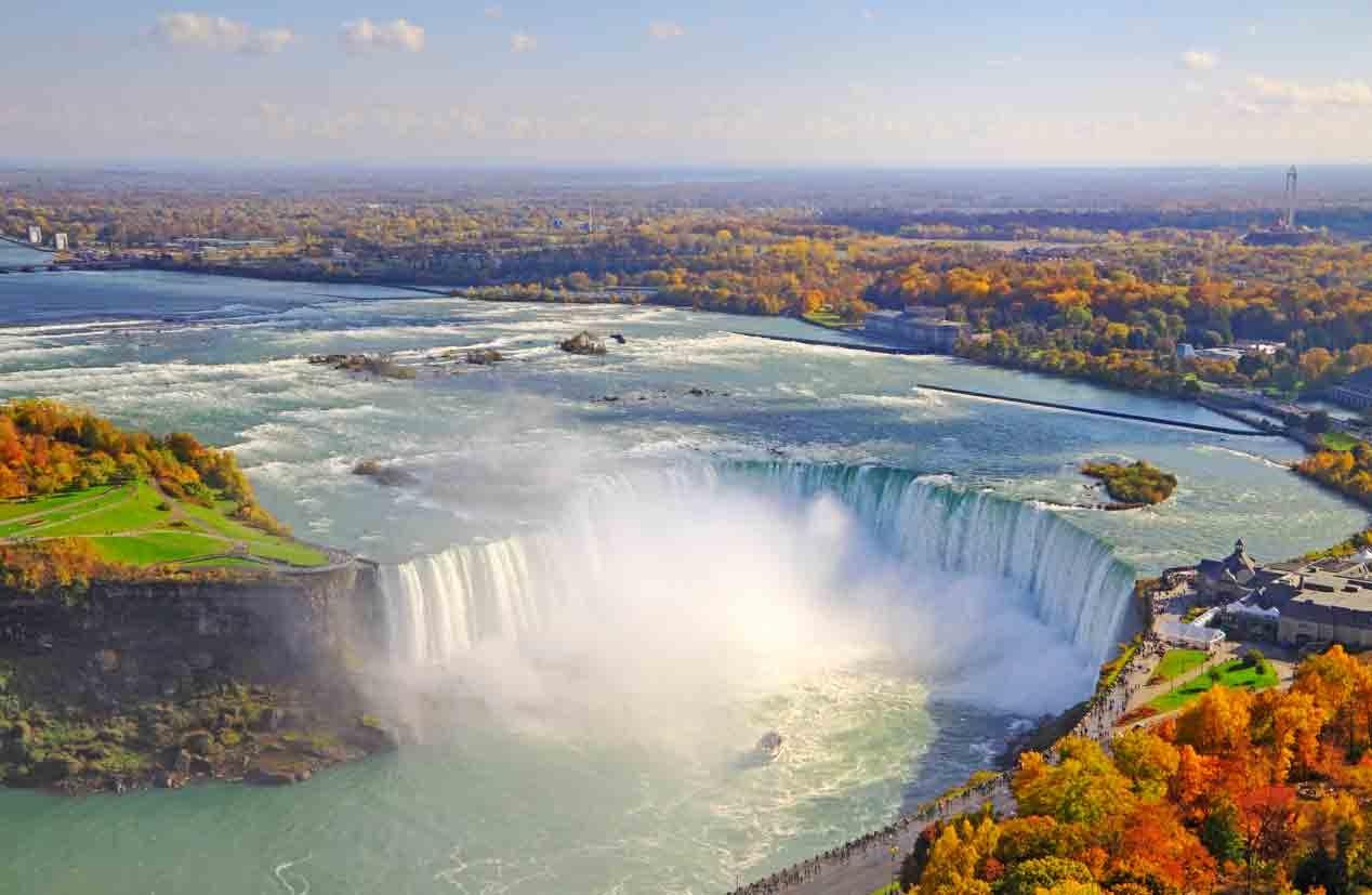Niagara Falls, Canada – Aerial View for feature on Canada M&A, marijuana, recreational drugs