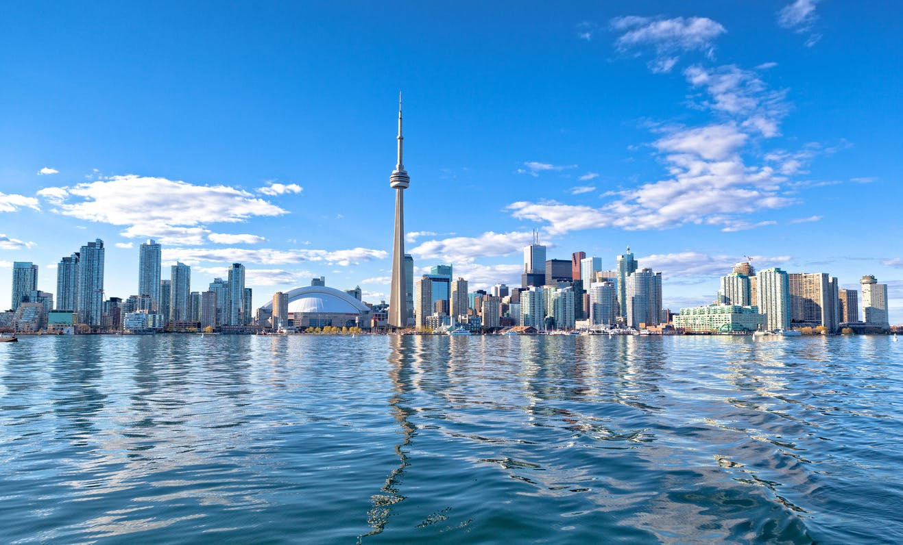 Skyline of Toronto, Canada for feature on Canada M&A, marijuana, recreational drugs
