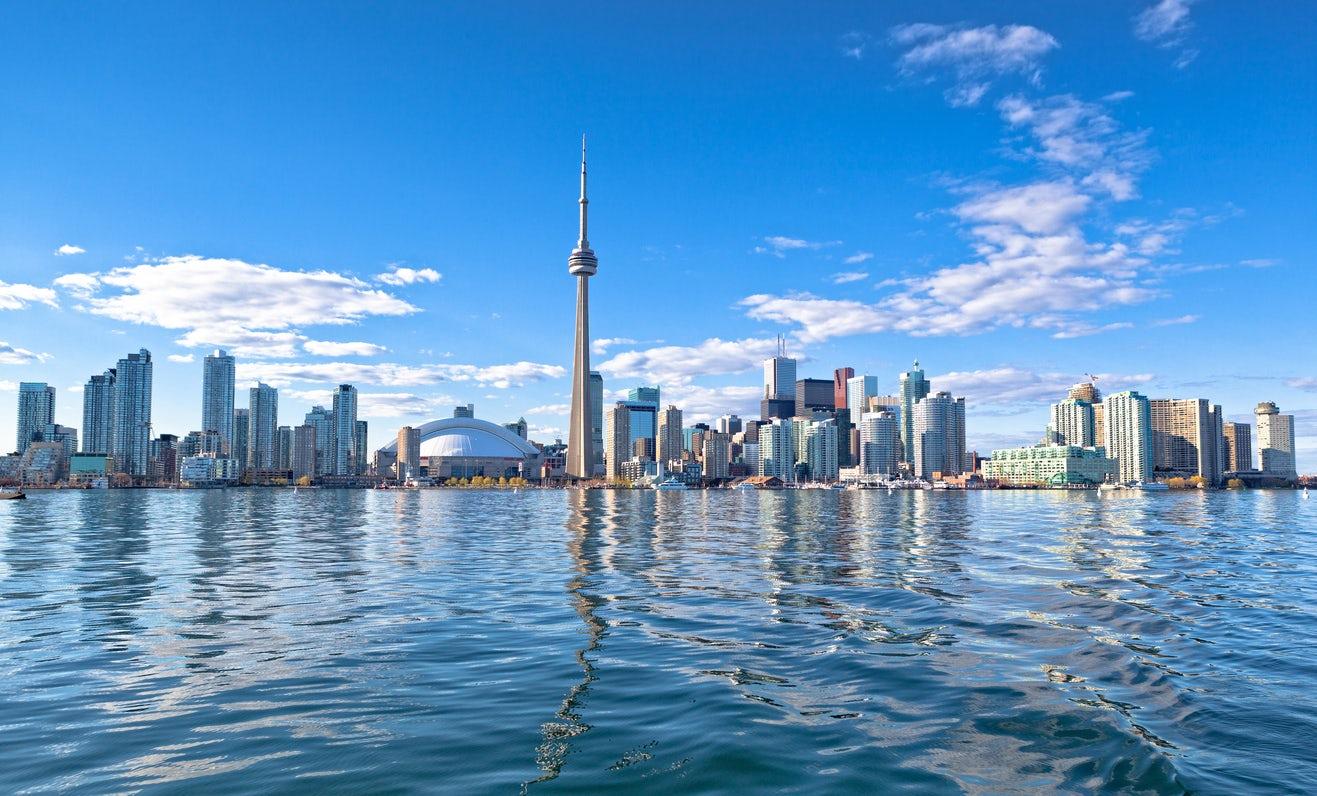 Skyline of Toronto, Canada for feature on Canada M&A, marijuana, recreational drugs