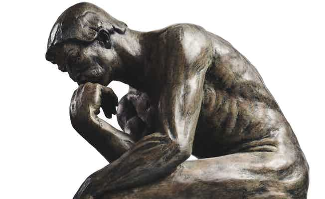 Picture, Rodin's The Thinker. Irwin Mitchell and Pump Court rule in the discreet world of private client