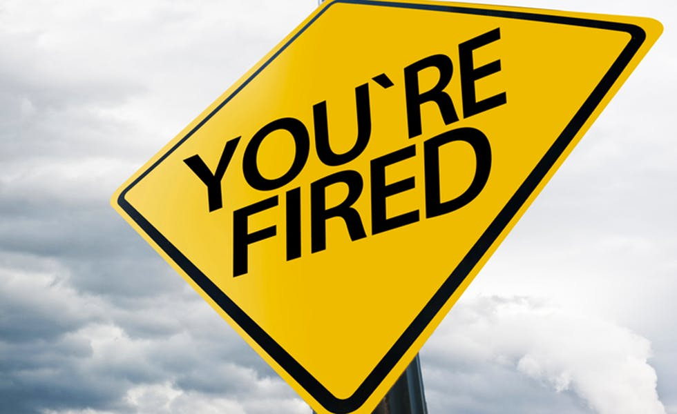 YOU ARE FIRED / Traffic sign concept (Click for more)