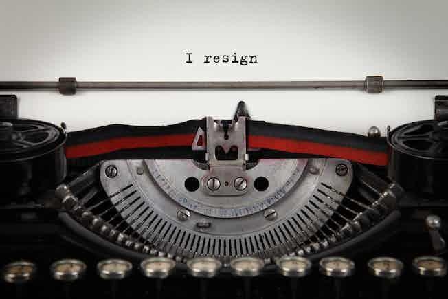 Resignation letter, quit, exit