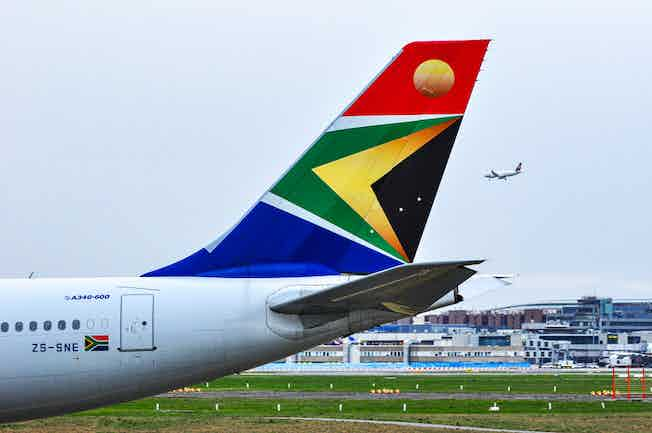 South African Airlines, plane, aeroplane, airport