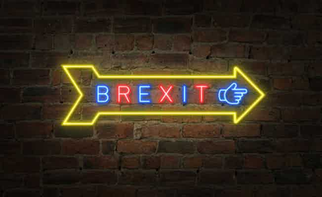 Brexit arrow pointing