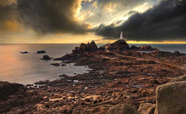 La Corbiere lighthouse on the island of Jersey