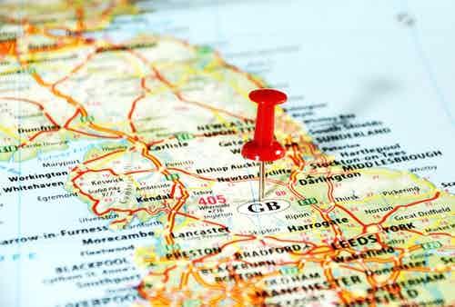 Map UK regions