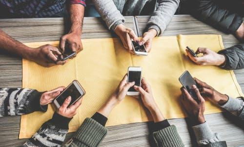 influencer social media phone