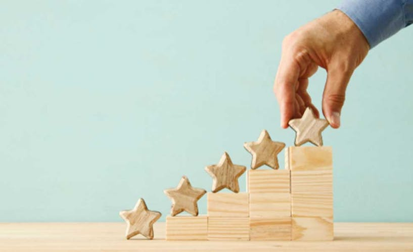 stars ranking system denoting evaluation of services